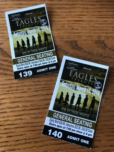 Eagles Tribute ticket, Port Theatre Cornwall, ON